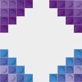 Lego icon. Abstract frame figure. Vector graphic Stock Image