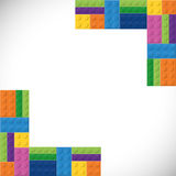 Lego icon. Abstract frame figure. Vector graphic Royalty Free Stock Photography
