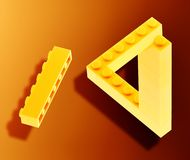 Lego impossible. Some lego with an impossible effect stock photos