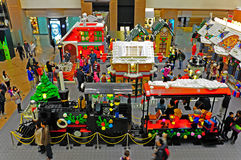 Lego juega la exposición ajusta a veces, Hong-Kong Imágenes de archivo libres de regalías