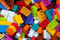 Lego konstruktor, plastikowi elementy obraz royalty free