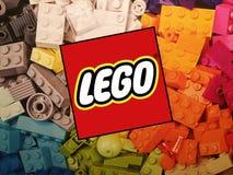 Lego logo obraz stock