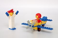 Free Lego Maxifig Building Set No 213, Airplane Ride Stock Images - 123079954