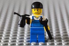 Lego mechanic offers his assistance. Royalty Free Stock Images