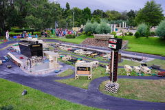 Lego mini field. Legoland Florida - mini race car field royalty free stock images