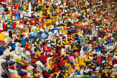 Lego minifigures at Cartoomics 2014 Royalty Free Stock Photos