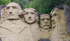 Lego Mount Rushmore Stock Photos