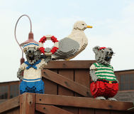 Lego Mouse and Pigeon at Legoland Royalty Free Stock Images
