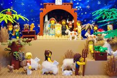 Lego Nativity Scene Stock Afbeeldingen