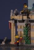 LEGO night museum break-in Stock Images