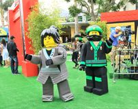 LEGO Ninjago premiere carpet. LEGO Ninjago movie premiere green carpet Royalty Free Stock Photography