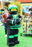 LEGO Ninjago premiere carpet. LEGO Ninjago movie premiere green carpet Royalty Free Stock Photos