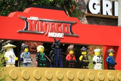 LEGO Ninjago premiere carpet. LEGO Ninjago movie premiere green carpet Stock Photography