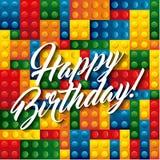 Lego pieces icon. Happy Birthday design. Vector graphic Royalty Free Stock Image