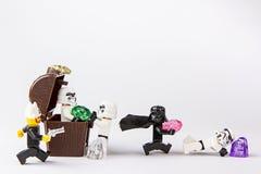 Lego pirata gwiezdna wojna kraść skarb Obrazy Stock