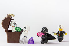 Lego pirata gwiezdna wojna kraść skarb Fotografia Royalty Free