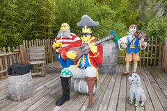 Lego Pirates Musicians at the Legoland Germany. GUNZBURG, GERMANY - AUG 18, 2016: Lego Pirates Musicians characters at the Legoland Deutschland park in Guenzburg Royalty Free Stock Images