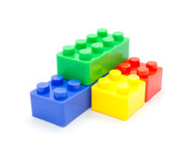 Lego Plastic building blocks on white background Stock Photography
