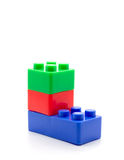 Lego Plastic building blocks on white background Stock Image