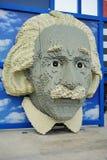 Lego Portrait of Albert Einstein at Legoland Royalty Free Stock Photo
