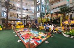 Lego promocja przy pawilonu centrum handlowym w Kuala Lumpur mieście Zdjęcia Royalty Free