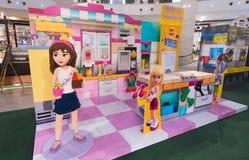 Lego promocja przy pawilonu centrum handlowym w Kuala Lumpur w Malezja Obraz Stock