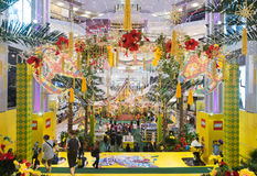 Lego promotion at Pavilion mall, Kuala Lumpur Malaysia. KUALA LUMPUR - JUNE 16, 2017: The hall of Pavilion shopping mall is brightly decorated for LETS GO Raya Stock Photo
