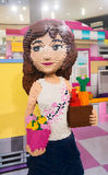 Lego promotion at the Pavilion shopping mall in Kuala Lumpur in. KUALA LUMPUR - JUNE 16, 2017: A big girl made of Lego blocks at Pavilion mall during LETS GO Stock Image