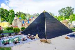 LEGO pyramid Royalty Free Stock Images