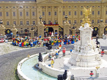 Lego Royal Wedding. British Royal Wedding scene made with lego bricks. Part of exhibition at Legoland Windsor uk stock photo