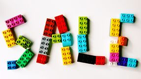Lego sale sign royalty free stock photo