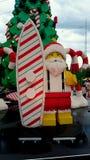 Lego Santa Federation Square Melbourne Arkivbild