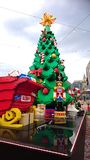 Lego Santa Federation Square Melbourne Royaltyfri Foto