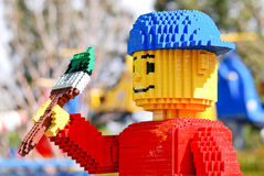 Lego Sculpted Painter Boy Stock Photo