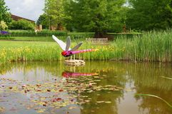 Lego sculptures on display at the Reiman Gardens at Iowa State University Stock Photo