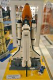 Lego Space Shuttle. Space Shuttle built by Lego in Lego Imagination Center in Downtown Disney, Orlando, Florida, USA Royalty Free Stock Photos