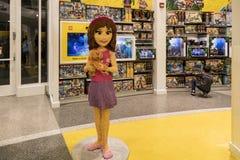 Lego-Speicher im berühmten im Stadtzentrum gelegenen Disney-Bezirk, Disneyland bezüglich Stockfotografie