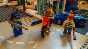 Lego stad Arkivfoto