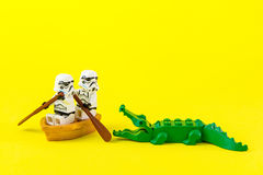 Free Lego Star Wars Ferried Escaped Crocodile Bite. Stock Image - 74743041
