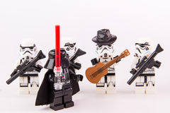 Lego star wars guitarist Stock Image