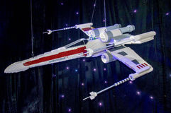 Lego Star Wars Spacecraft. PERTH,WA,AUSTRALIA-APRIL 10,2016: Built Lego Star Wars spacecraft at the Brickman Experience in Perth, Western Australia Royalty Free Stock Image