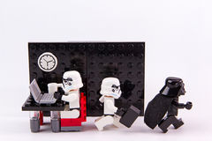 Lego star wars working time. Stock Photography