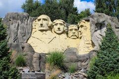 Lego staty av Mount Rushmore Royaltyfria Bilder