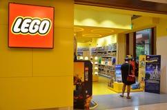 Lego Store en hotel festivo en Sentosa, Singapur Foto de archivo