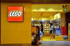 Lego Store på festligt hotell i Sentosa, Singapore Arkivfoto
