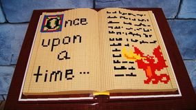 Lego Storybook Red Dragon fotos de stock