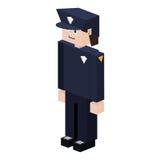 lego sylwetki policjant z jednolitym błękitem royalty ilustracja