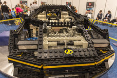 LEGO technic car. Each year, one of the largest LEGO fans in the world takes place in Jaarbeurs in Utrecht, Netherlands. The exhibition is called LEGOWORLD Stock Photo