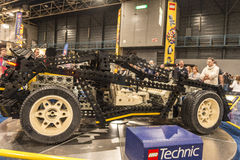 LEGO technic car. Each year, one of the largest LEGO fans in the world takes place in Jaarbeurs in Utrecht, Netherlands. The exhibition is called LEGOWORLD Royalty Free Stock Image