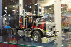 LEGO technic. Each year, one of the largest LEGO fans in the world takes place in Jaarbeurs in Utrecht, Netherlands. The exhibition is called LEGOWORLD Royalty Free Stock Photo